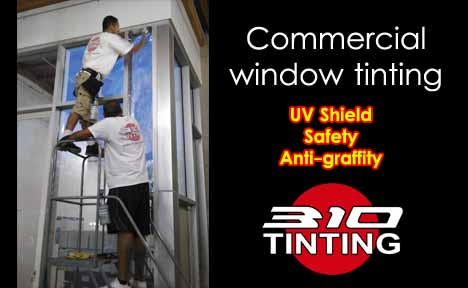 Commercial Window Tinting safety anti graffiti