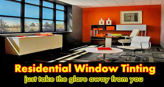 residential window tinting no glare