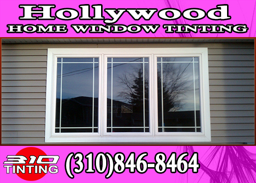 Hollywood window tinting on flat glass